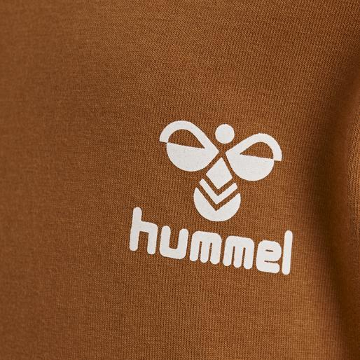 hmlMAUI T-SHIRT L/S, GLAZED GINGER, packshot