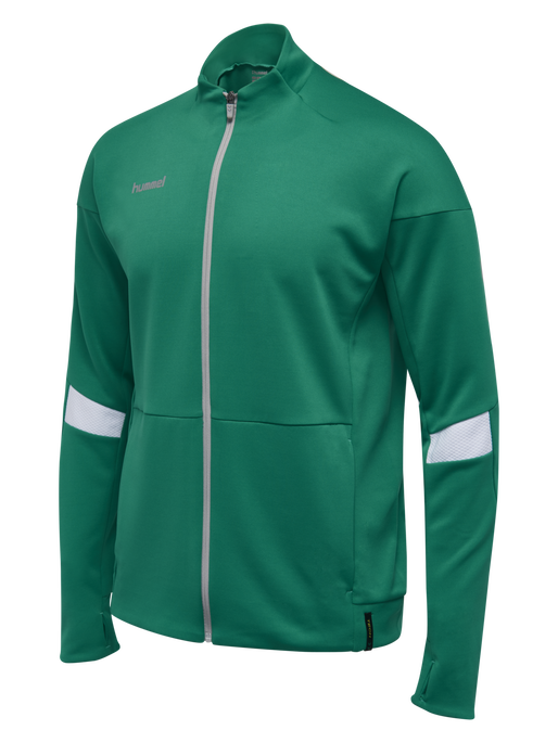 TECH MOVE KIDS POLY ZIP JACKET, SPORTS GREEN, packshot