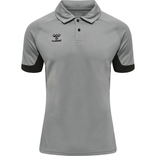 hmlLEAD FUNCTIONAL POLO, GREY MELANGE, packshot