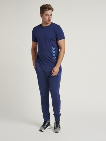 hmlPARSON T-SHIRT, MEDIEVAL BLUE, model