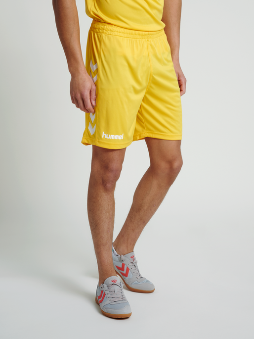 CORE POLY SHORTS, SPORTS YELLOW PR, model