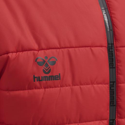 hmlNORTH QUILTED HOOD JACKET, TRUE RED, packshot