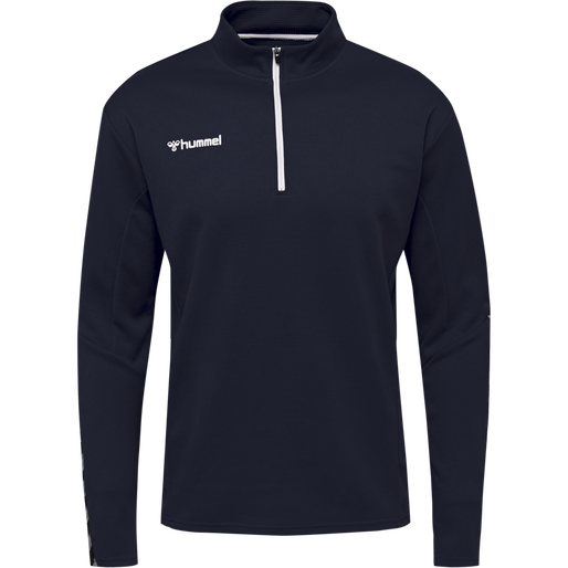 hmlAUTHENTIC HALF ZIP SWEATSHIRT, MARINE, packshot