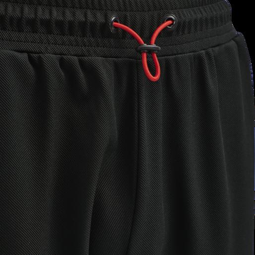 hmlACTION TRAINING PANTS, BLACK/FIESTA, packshot