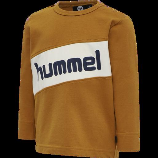 hmlCLEMENT T-SHIRT L/S, PUMPKIN SPICE, packshot