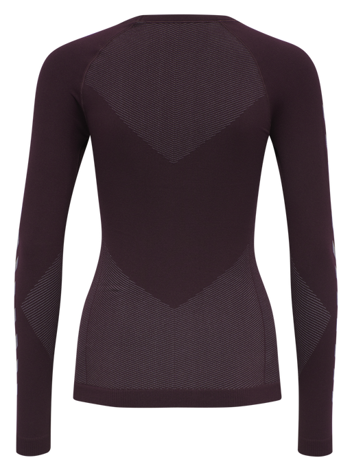 HUMMEL FIRST SEAMLESS JERSEY L/S WOMAN, BORDEUAX/LIGHT GREY, packshot
