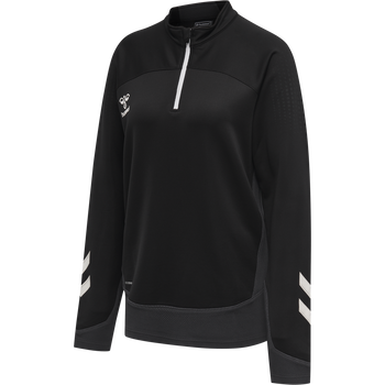 hmlLEAD WOMAN HALF ZIP , BLACK, packshot