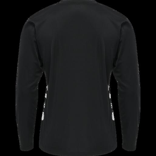 hmlREFEREE CHEVRON JERSEY L/S, BLACK, packshot
