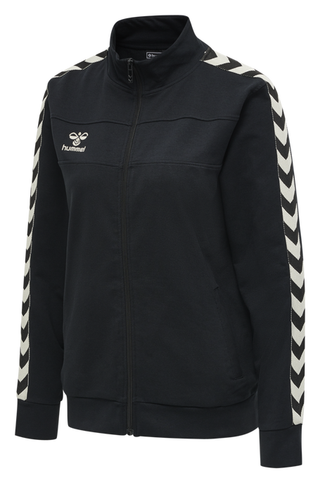 hmlMOVE CLASSIC ZIP JACKET WOMAN, BLACK, packshot