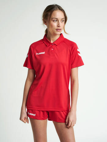 CORE FUNCTIONAL POLO WOMAN, TRUE RED, model