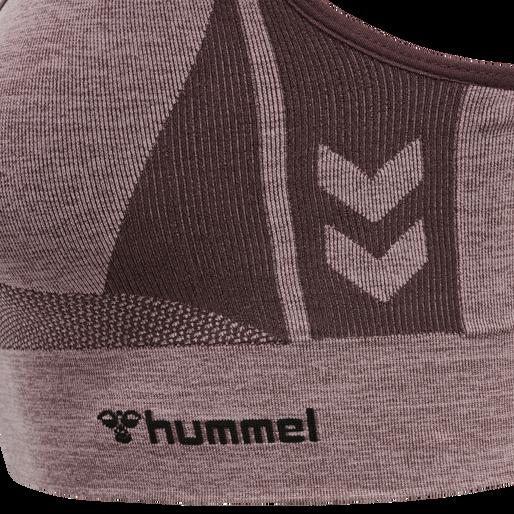 hmlCLEA SEAMLESS SPORTS TOP, FUDGE/WOODROSE MELANGE, packshot