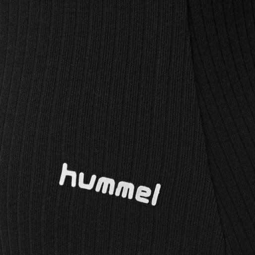 hmlMAI RIB BODY S/S, BLACK, packshot