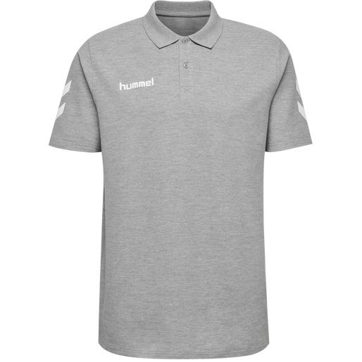 HUMMEL GO COTTON POLO, GREY MELANGE, packshot