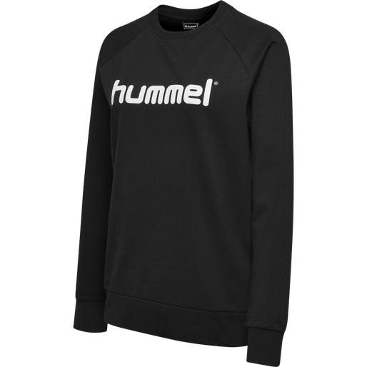 HUMMEL GO COTTON LOGO SWEATSHIRT WOMAN, BLACK, packshot