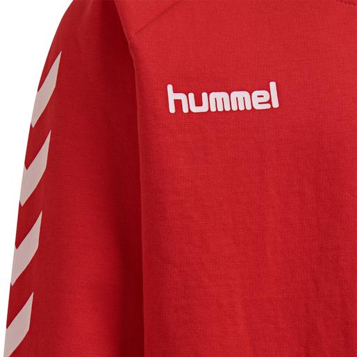 HUMMEL GO KIDS COTTON SWEATSHIRT, TRUE RED, packshot