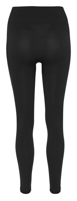 HMLCLEA SEAMLESS TIGHTS, BLACK MELANGE, packshot