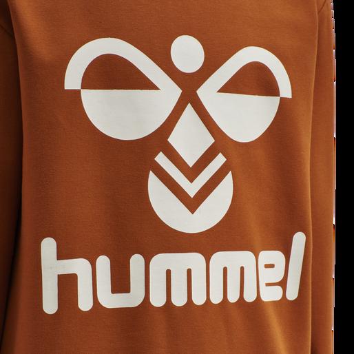 HMLDOS SWEATSHIRT, BOMBAY BROWN, packshot