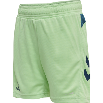 hmlACTION SHORTS KIDS, GREEN ASH/BLUE CORAL, packshot