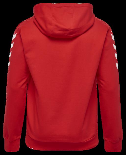 CORE COTTON HOODIE, TRUE RED, packshot