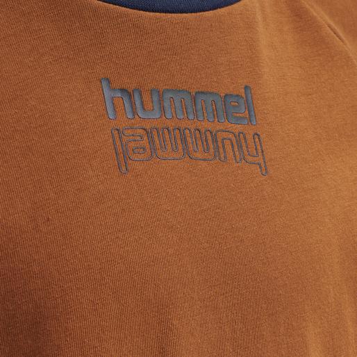 hmlSEB T-SHIRT L/S, BOMBAY BROWN, packshot