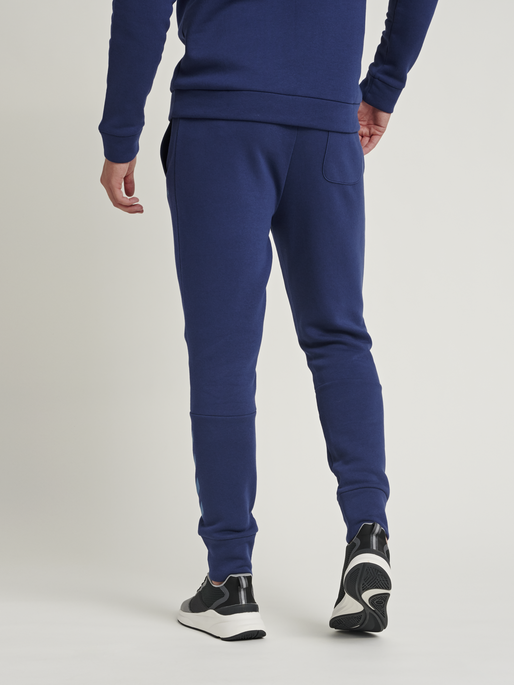 hmlFALCON TAPERED PANTS, MEDIEVAL BLUE, model