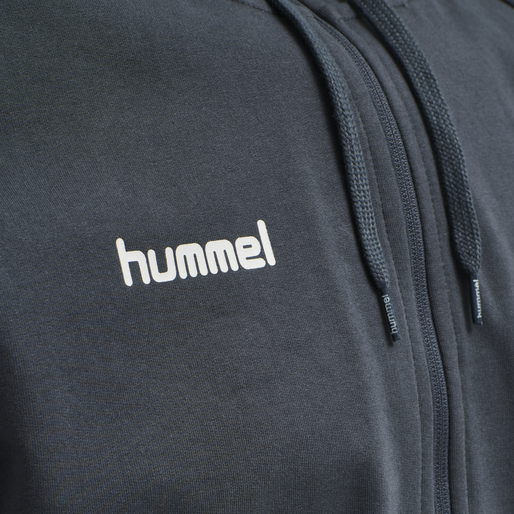 HUMMEL GO COTTON ZIP HOODIE, INDIA INK, packshot