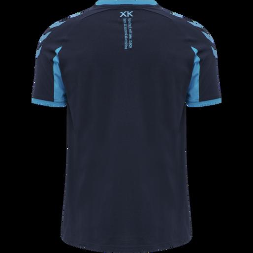 hmlACTION COTTON T-SHIRT, BLACK IRIS/ATOMIC BLUE, packshot