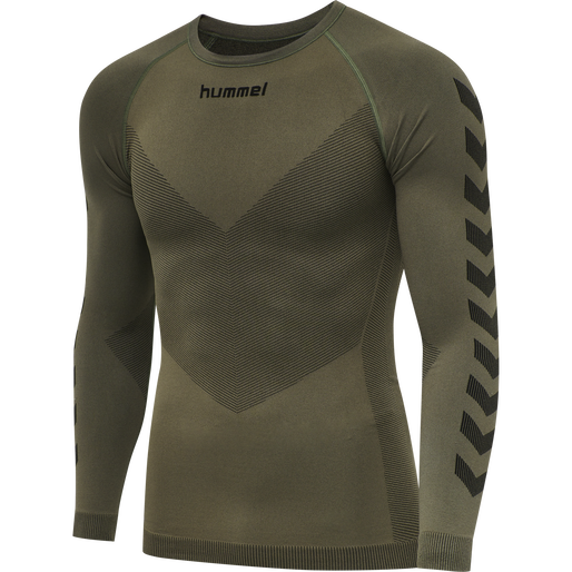 HUMMEL FIRST SEAMLESS JERSEY L/S , GRAPE LEAF, packshot