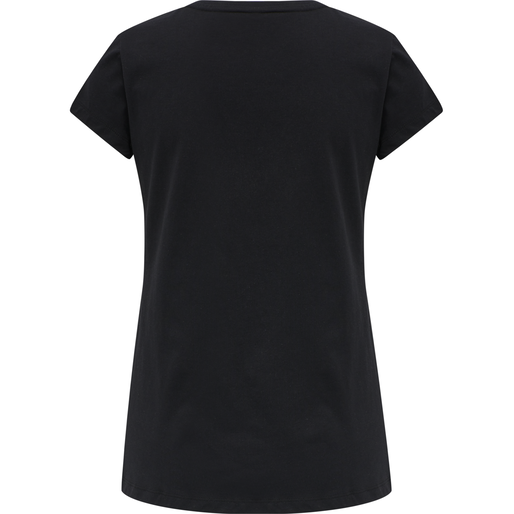 hmlSPRING T-SHIRT, BLACK, packshot