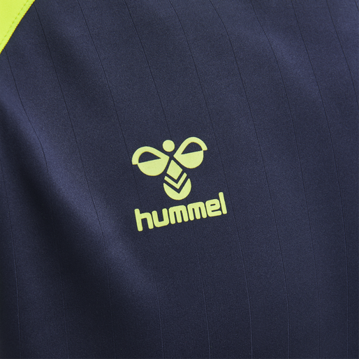 hmlACTION JERSEY S/S, MARINE/SAFETY YELLOW, packshot