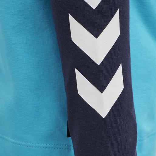 hmlVERNER T-SHIRT L/S, SCUBA BLUE, packshot