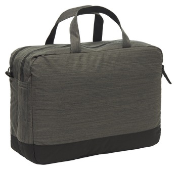 URBAN LAP TOP SHOULDER BAG, BLACK MELANGE, packshot