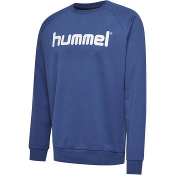 HUMMEL GO KIDS COTTON LOGO SWEATSHIRT, TRUE BLUE, packshot