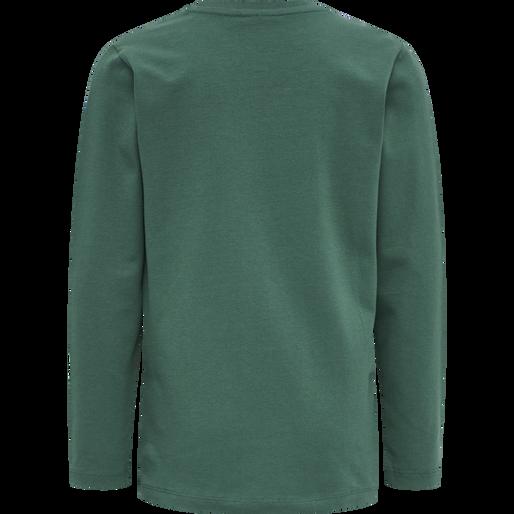 hmlOTTO T-SHIRT L/S, MALLARD GREEN, packshot