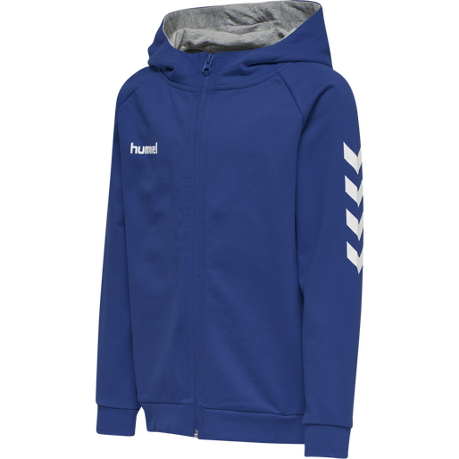 HUMMEL GO KIDS COTTON ZIP HOODIE, TRUE BLUE, packshot
