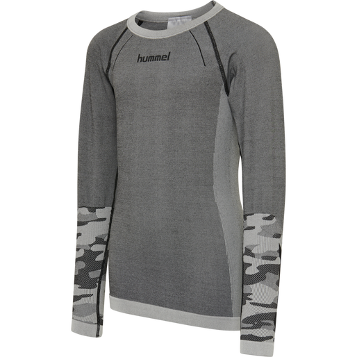 hmlMAX SEAMLESS T-SHIRT L/S, MEDIUM MELANGE, packshot