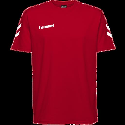 HUMMEL GO COTTON T-SHIRT S/S, TRUE RED, packshot