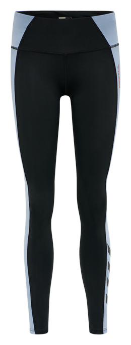 hmlINES MID WAIST TIGHTS, BLACK, packshot