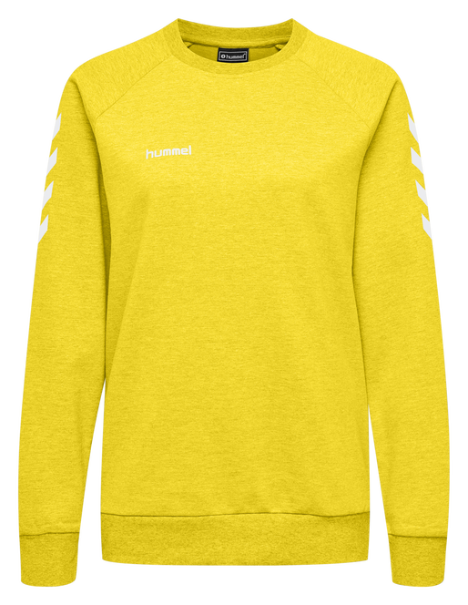 HUMMEL GO COTTON SWEATSHIRT WOMAN, SPORTS YELLOW, packshot