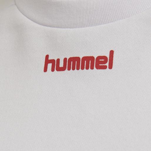 hmlHVIDBJERG SHORT SWEATSHIRT, WHITE, packshot