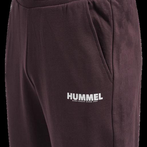 hmlLEGACY TAPERED PANTS, FUDGE/WHITE, packshot