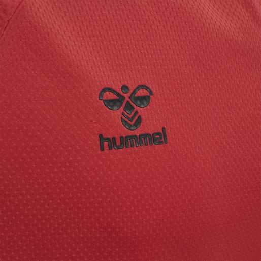 hmlLEAD S/S POLY JERSEY, TRUE RED, packshot