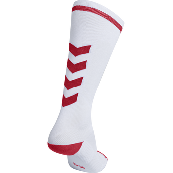 ELITE INDOOR SOCK HIGH, WHITE/TRUE RED, packshot