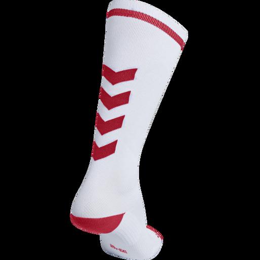 ELITE INDOOR SOCK HIGH, WHITE/TRUE RED, packshot