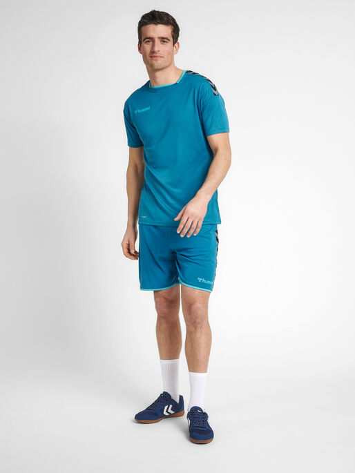 hmlAUTHENTIC POLY JERSEY S/S, CELESTIAL, model