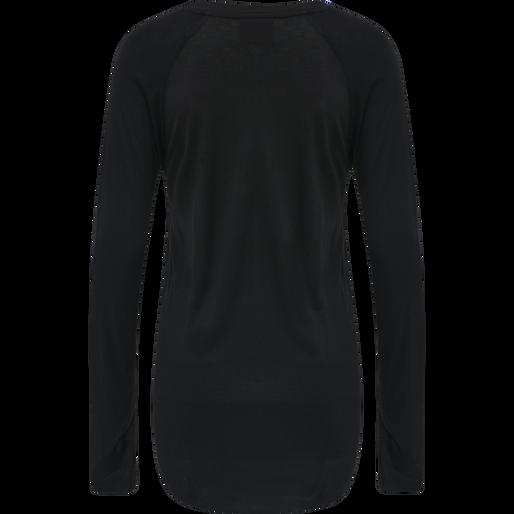 HMLSELINA T-SHIRT L/S TEE, BLACK, packshot