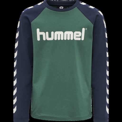 hmlBOYS T-SHIRT LS, MALLARD GREEN, packshot