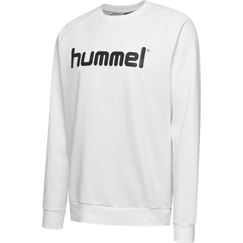 HUMMEL GO KIDS COTTON LOGO SWEATSHIRT, WHITE, packshot
