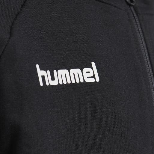 HUMMEL GO KIDS COTTON ZIP HOODIE, BLACK, packshot