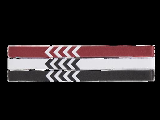 3-PAK HÅRBÅND, WHITE/BLACK/TRUE RED, packshot
